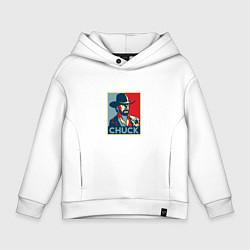 Толстовка оверсайз детская Chuck Poster цвета белый — фото 1