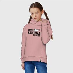 Толстовка оверсайз детская Big Kahuna Burger цвета пыльно-розовый — фото 2