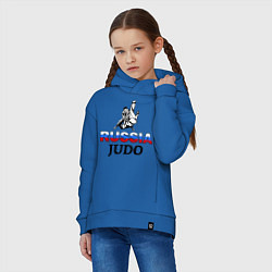 Толстовка оверсайз детская Russia judo цвета синий — фото 2