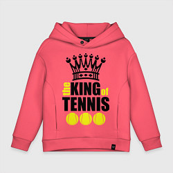Толстовка оверсайз детская King of tennis цвета коралловый — фото 1