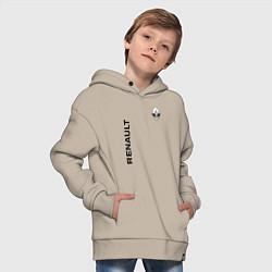 Толстовка оверсайз детская Renault Style цвета миндальный — фото 2