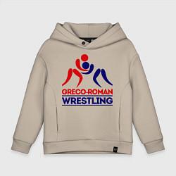 Толстовка оверсайз детская Greco-roman wrestling цвета миндальный — фото 1
