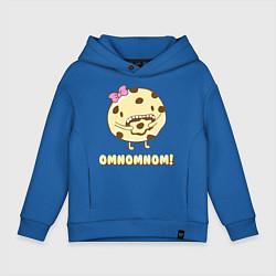 Толстовка оверсайз детская Cake: Omnomnom! цвета синий — фото 1