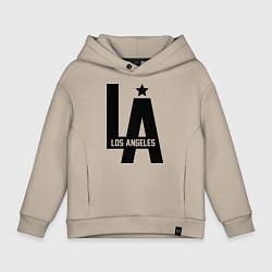 Толстовка оверсайз детская Los Angeles Star цвета миндальный — фото 1