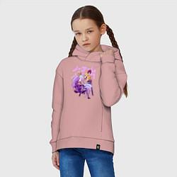 Толстовка оверсайз детская No Game No Life цвета пыльно-розовый — фото 2