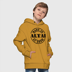 Толстовка оверсайз детская Made in Altai цвета горчичный — фото 2