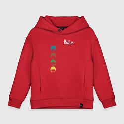 Толстовка оверсайз детская Beatles цвета красный — фото 1