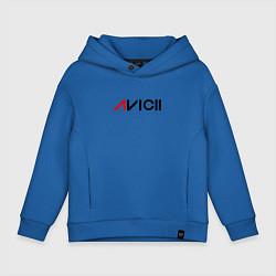 Толстовка оверсайз детская Avicii цвета синий — фото 1