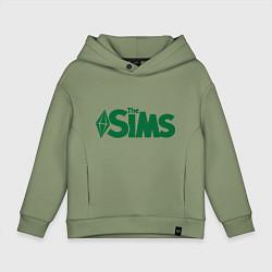 Толстовка оверсайз детская Sims цвета авокадо — фото 1