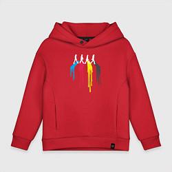 Толстовка оверсайз детская Abbey Road Colors цвета красный — фото 1