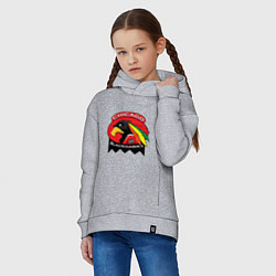 Толстовка оверсайз детская Chicago Blackhawks Hockey цвета меланж — фото 2