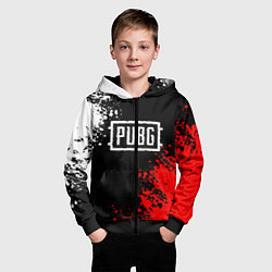 Толстовка на молнии детская PUBG цвета 3D-черный — фото 2