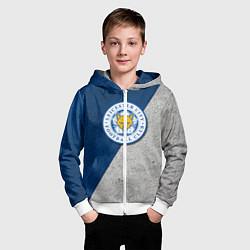 Толстовка на молнии детская Leicester City FC цвета 3D-белый — фото 2