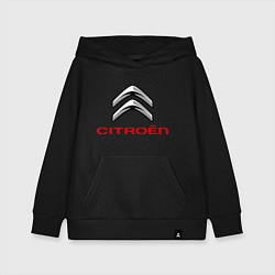 Толстовка детская хлопковая Citroen цвета черный — фото 1