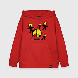 Толстовка детская хлопковая Olodum цвета красный — фото 1