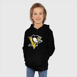 Толстовка детская хлопковая Pittsburgh Penguins цвета черный — фото 2