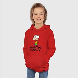 Толстовка детская хлопковая Moby цвета красный — фото 2