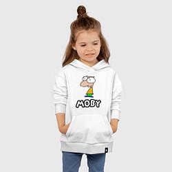 Толстовка детская хлопковая Moby цвета белый — фото 2