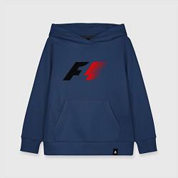 Толстовка детская хлопковая Formula 1 цвета тёмно-синий — фото 1