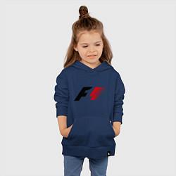 Толстовка детская хлопковая Formula 1 цвета тёмно-синий — фото 2