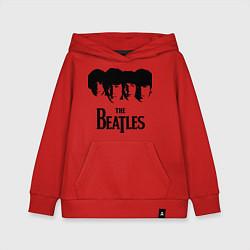 Толстовка детская хлопковая The Beatles: Faces цвета красный — фото 1