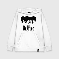 Толстовка детская хлопковая The Beatles: Faces цвета белый — фото 1