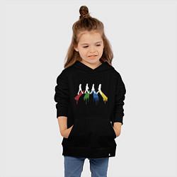 Толстовка детская хлопковая Beatles Color цвета черный — фото 2