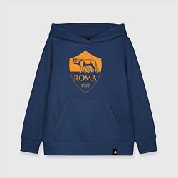 Толстовка детская хлопковая AS Roma: Autumn Top цвета тёмно-синий — фото 1