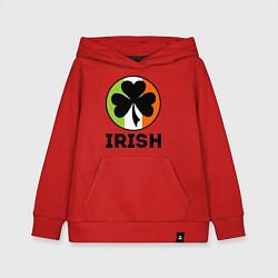 Толстовка детская хлопковая Irish - цвет флага цвета красный — фото 1