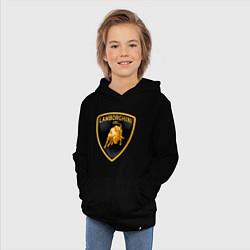 Толстовка детская хлопковая Lamborghini logo цвета черный — фото 2