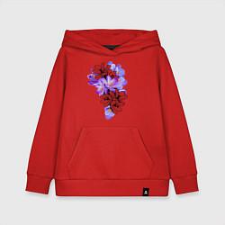 Толстовка детская хлопковая Krokus Flower цвета красный — фото 1