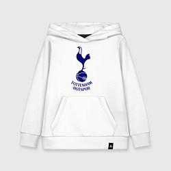 Толстовка детская хлопковая Tottenham FC цвета белый — фото 1