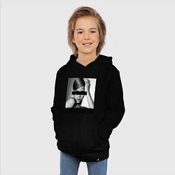 Толстовка детская хлопковая Rihanna цвета черный — фото 2