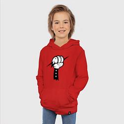 Толстовка детская хлопковая Volt Hand цвета красный — фото 2