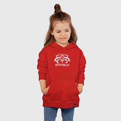Толстовка детская хлопковая Stone Sour цвета красный — фото 2