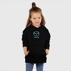 Толстовка детская хлопковая MAZDA цвета черный — фото 2