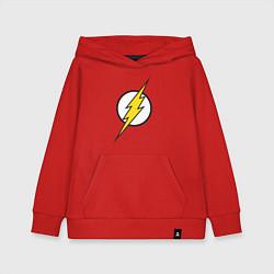 Толстовка детская хлопковая Flash цвета красный — фото 1