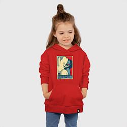 Толстовка детская хлопковая Monokuma цвета красный — фото 2