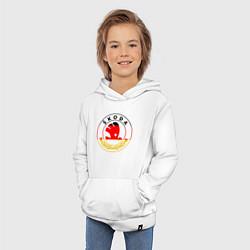 Толстовка детская хлопковая Skoda Z цвета белый — фото 2