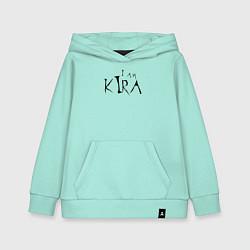 Толстовка детская хлопковая I am Kira цвета мятный — фото 1