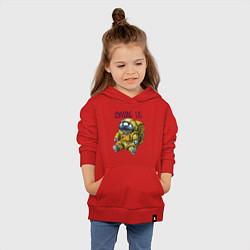 Толстовка детская хлопковая Among Us цвета красный — фото 2