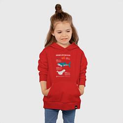 Толстовка детская хлопковая Marine Life цвета красный — фото 2