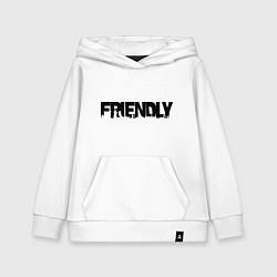 Толстовка детская хлопковая DayZ: Im friendly цвета белый — фото 1
