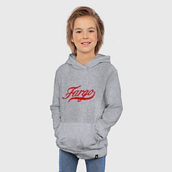 Толстовка детская хлопковая Fargo цвета меланж — фото 2