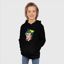Толстовка детская хлопковая Неймар: фан-арт цвета черный — фото 2