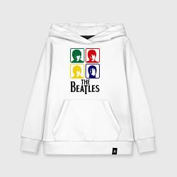 Толстовка детская хлопковая The Beatles: Colors цвета белый — фото 1