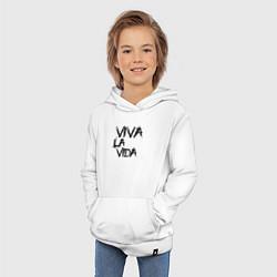 Толстовка детская хлопковая Viva La Vida цвета белый — фото 2
