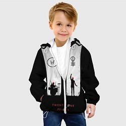 Детская 3D-куртка с капюшоном с принтом Twenty One Pilots: Lines, цвет: 3D-белый, артикул: 10105819405458 — фото 2