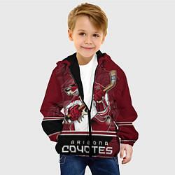 Куртка с капюшоном детская Arizona Coyotes цвета 3D-черный — фото 2