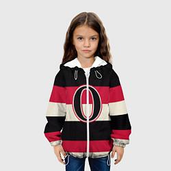 Детская 3D-куртка с капюшоном с принтом Ottawa Senators O, цвет: 3D-белый, артикул: 10107373705458 — фото 2